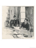Sidney and Beatrice Webb Economists and Social Theorists Working Together Giclee Print by Bertha Newcombe