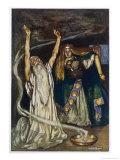 The Druid Warns Maeve About Cuchulain Gicléetryck av Stephen Reid