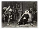 Mary Queen of Scots is Told of Her Imminent Execution Giclee Print by D. Raab