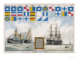 Before the Battle Nelson Sends His Famous Signal: England Expects Every Man to Do His Duty Stampa giclée di W.w. May