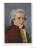Wolfgang Amadeus Mozart Giclee Print by Rudolf Klingsbogl