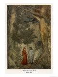 Virgil and Dante at the Entrance to Inferno: Abandon Hope All Ye Who Enter Here! Gicléetryck av Evelyn Paul