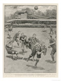 Cup Final Aston Villa Win Against West Bromwich Albion at the Crystal Palace. Final Score 1-0 Giclee Print by H.m. Paget