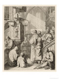 Luther Preaching Giclee Print by Gustav Konig
