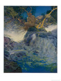 Pan by a Stream Giclée-tryk af Maxfield Parrish