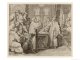 At Leipzig in Disputation with Johann Eck He Denies the Supreme Authority of Popes and Councils Giclee Print by Gustav Konig