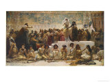 The Babylonian Marriage Market Reproduction procédé giclée par Edwin Long