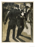 Gentleman Deliberately Insults Another: Among Gentlemen This is of Course the Prelude to a Duel Giclee Print by Paul Ralluriau