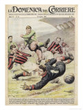 Fiorentina Defeat Milano on Their Home Ground at Firenze Giclée-tryk af Walter Molini