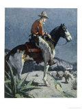The American Cowboy Giclee Print by Sidney Riesenberg