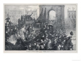 The Boat Race as Viewed from Hammersmith Bridge Giclee Print by M.w. Ridley