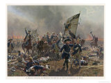 Battle of Zorndorf Friedrich Der Grosse Leads His Soldiers Gicléedruk van C. Rochling