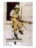 Hopalong Cassidy Cowboy Gicléetryck av F.e. Schoonover