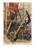 Building a Torpedo-Boat in a German Shipyard Giclee Print by Heinrich Kley