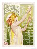 Absinthe Robette Reproduction procédé giclée par Privat Livemont