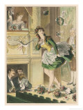 Success! Bouquets of Flowers are Thrown on Stage and a Dove is Let Loose for a Popular Actress Giclee Print by D. Eusebio Planas