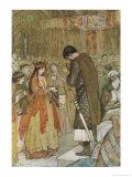 Parsifal (Parzival) Prays for Guidance Gicléetryck av Evelyn Paul