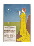 Poster for a Classical Music Concert Starring the Belgian Violinist and Composer Eugene Ysaye Giclee Print by H. Meunier