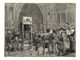 Perkin Warbeck Claimant to the English Crown is Placed in the Pillory on the Orders of Henry VII Giclee Print by H.m. Paget