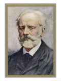 Pyotr Ilich Tchaikovsky, Russian Composer Giclee Print by Ik Skelton