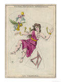 Andromeda (Gloria Federici) in Chains Plus Triangles Constellation Giclee Print by Sidney Hall