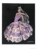 "Antonia Argentina (Antonia Merce) Flamenco Dancer in ""Cordoba"" by Albeniz Impressão giclée por Marguerite Mackain"