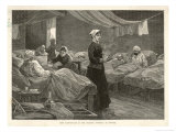 Florence Nightingale Walks Between the Rows of Beds in the Barrack Hospital Giclee Print by Henry Roberts