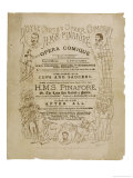 Cover of the Programme for the Original Production of Pinafore by Gilbert and Sullivan Impressão giclée por  Programme