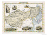 Map of Tibet Mongolia and Manchuria Giclee Print by J. Rapkin