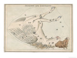 The Pegasus and Equuleus Constellation Giclee Print by Sidney Hall