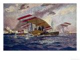 An Austrian Hansa-Brandenburg Seaplane is Forced Down Giclee Print by Alex Kirkheff