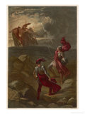 Macbeth, The Meeting with the Witches on the Heath Giclee Print by Joseph Kronheim