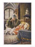 Beauty, and Everyone Else in the Palace Human or Animal, Fall Asleep Under the Witch's Spell Giclee Print by O. Kubel