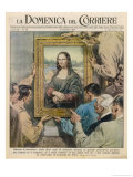 During World War Two Mona Lisa is Removed for Safe-Keeping from the Hands of Goering and His Mates Giclée-tryk af Walter Molini