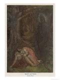 Satyavan Dies as Foretold in His Wife Savitri's Arms Gicléetryck av Evelyn Paul