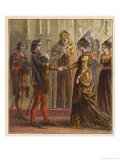 The Marriage of Henry V of England and Catherine de Valois the Daughter of Charles VI of France Giclee Print by Joseph Kronheim