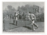 Lawford Versus Renshaw in the Fifth Round of the All-Comers' Match Gicléetryck av Hopkins, Arthur
