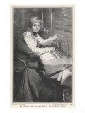 The Switchboard Girl Hears Alarming News Gicléetryck av F.e. Schoonover
