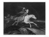 Tam O'Shanter, He Rides with the Devil Behind Him Giclee Print by J. Rogers