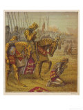Henry V and His Troops Pray for Victory Over the French Before the Battle of Agincourt Giclee Print by Joseph Kronheim