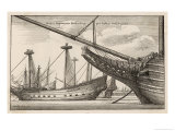 Vessels of the Dutch West India Company Giclee Print by Wenceslaus Hollar