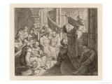 Martin Luther Delivers a Practice Sermon to His Brethren Giclee Print by Gustav Konig