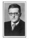 Dmitry Dmitriyevich Shostakovich Russian Composer Reproduction procédé giclée