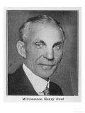 Henry Ford, American Automobile Manufacturer Lámina giclée