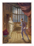 """Don Giovanni"" the Commendatore Accepts the Don's Supper Invitation Giclée-vedos"