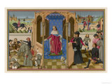 Louis IX Dispensing Charity and Justice Giclee Print