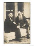 Anton Chekhov Russian Writer with Leo Tolstoy Giclée-Druck