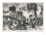 Siege of Constantinople the Turks Under Sultan Mehmed II Make Their Final Assault Giclee Print