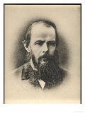 Feodor Dostoievski Russian Writer Giclée-Druck