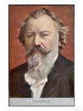 Músico alemán Johannes Brahms Lámina giclée
